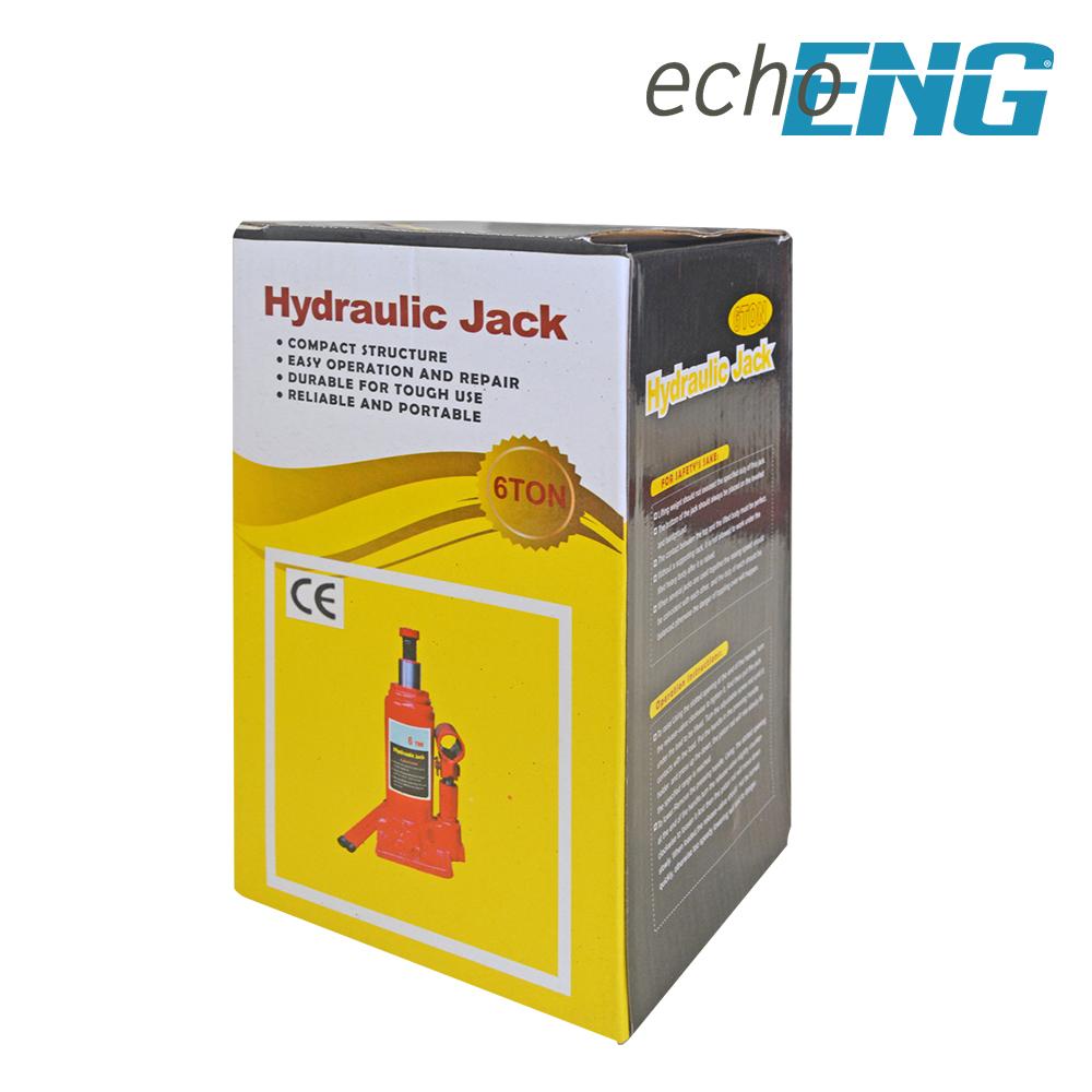 Sollevatore idraulico cric martinetto a bottiglia 6000 kg 6 T TON Tonnellate