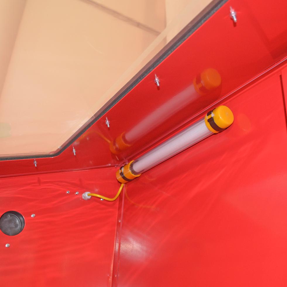 Sabbiatrice professionale pneumatica portello singolo cabina sabbiatura accessori