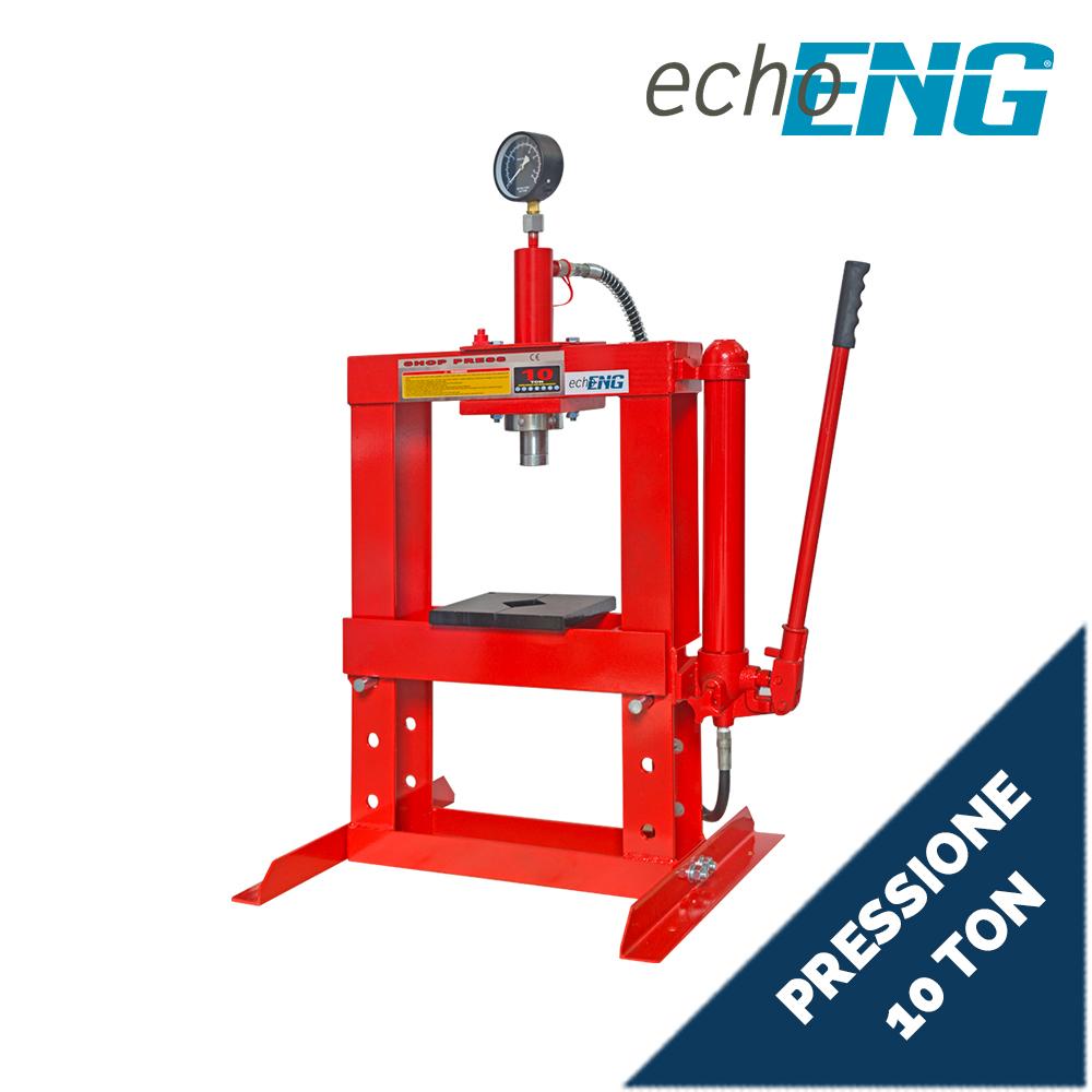 Pressa idraulica manuale 10000 kg 10 T TON Tonnellate manometro - MA PE PE10
