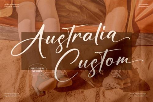 Australia Custom Font 1x TTF/OTF
