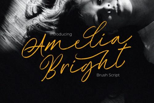 Amelia Bright Font 1x TTF/OTF