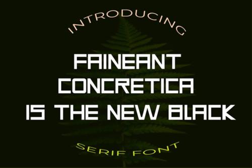 Faineant Font 1x TTF/OTF