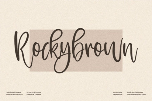 Rockybrown Font 2x TTF/OTF