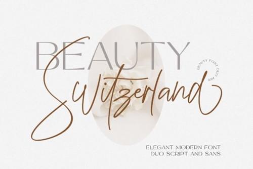 Beauty Switzerland Font 2x OTF