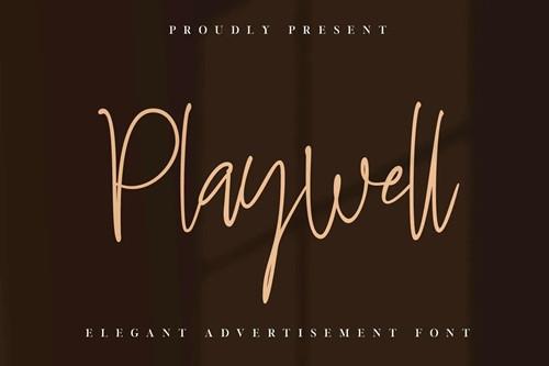 Playwell Font 1x TTF/OTF