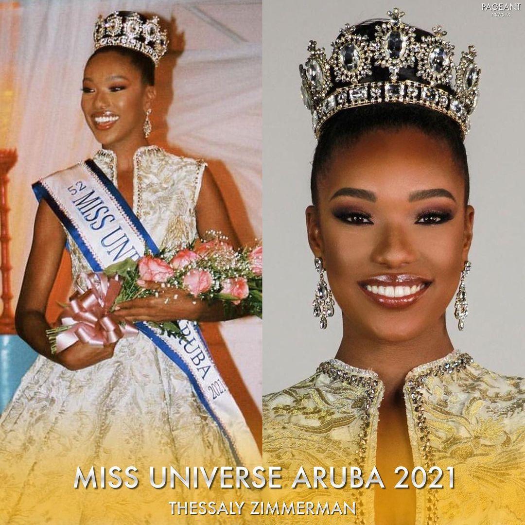 guadeloupe & aruba para miss universe 2021. Aie73b