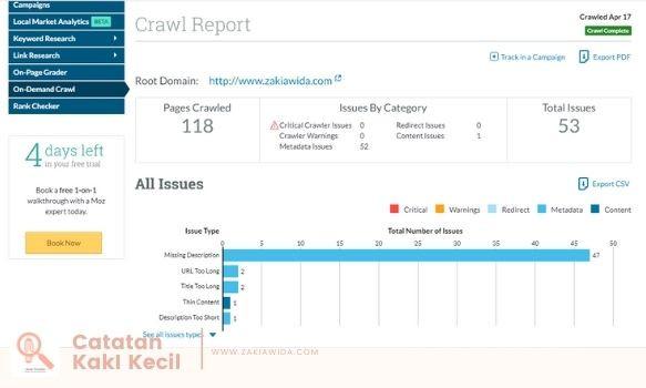 Crawl report