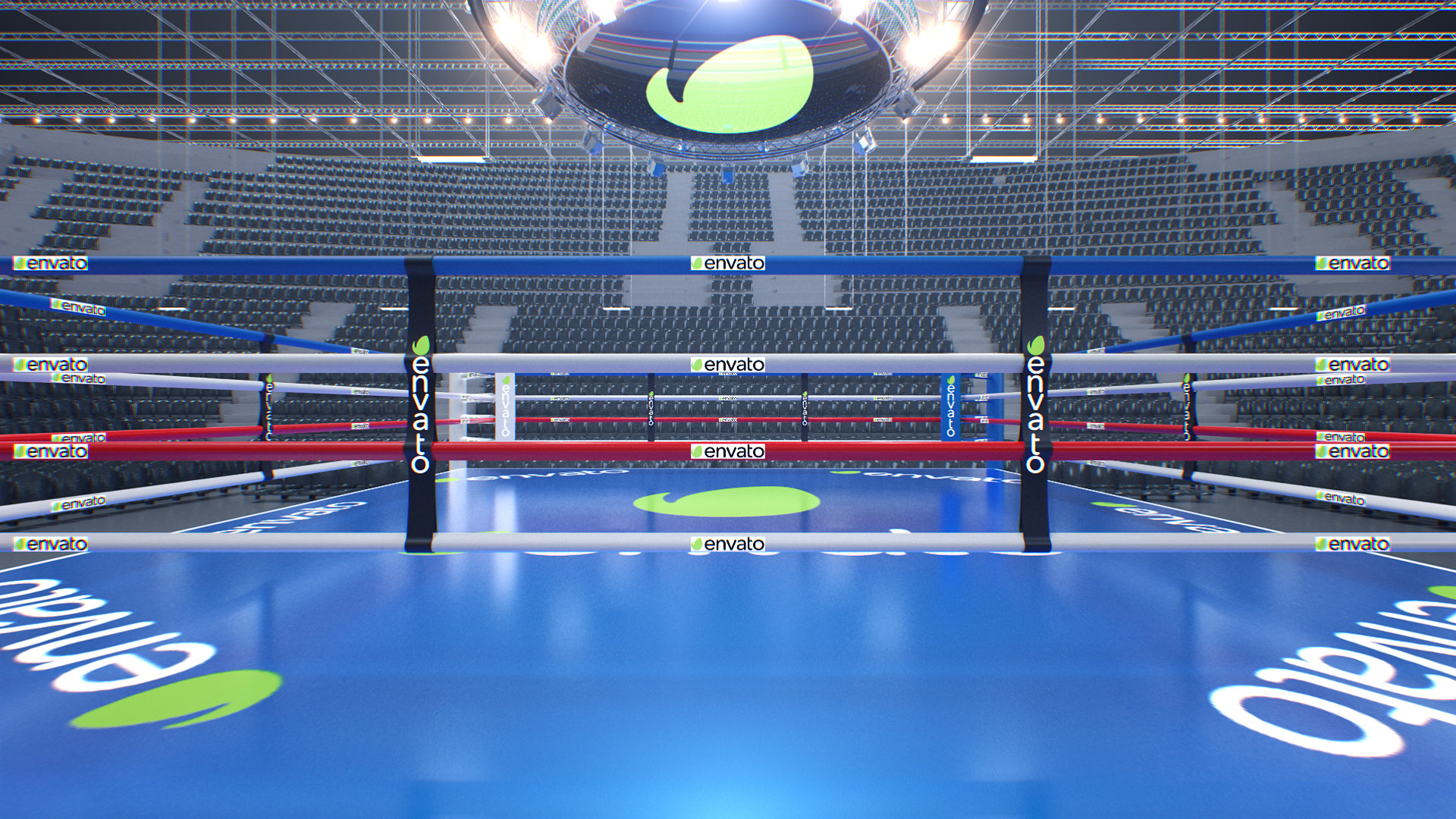 Boxing Ring Arena with Jumbotron - 4