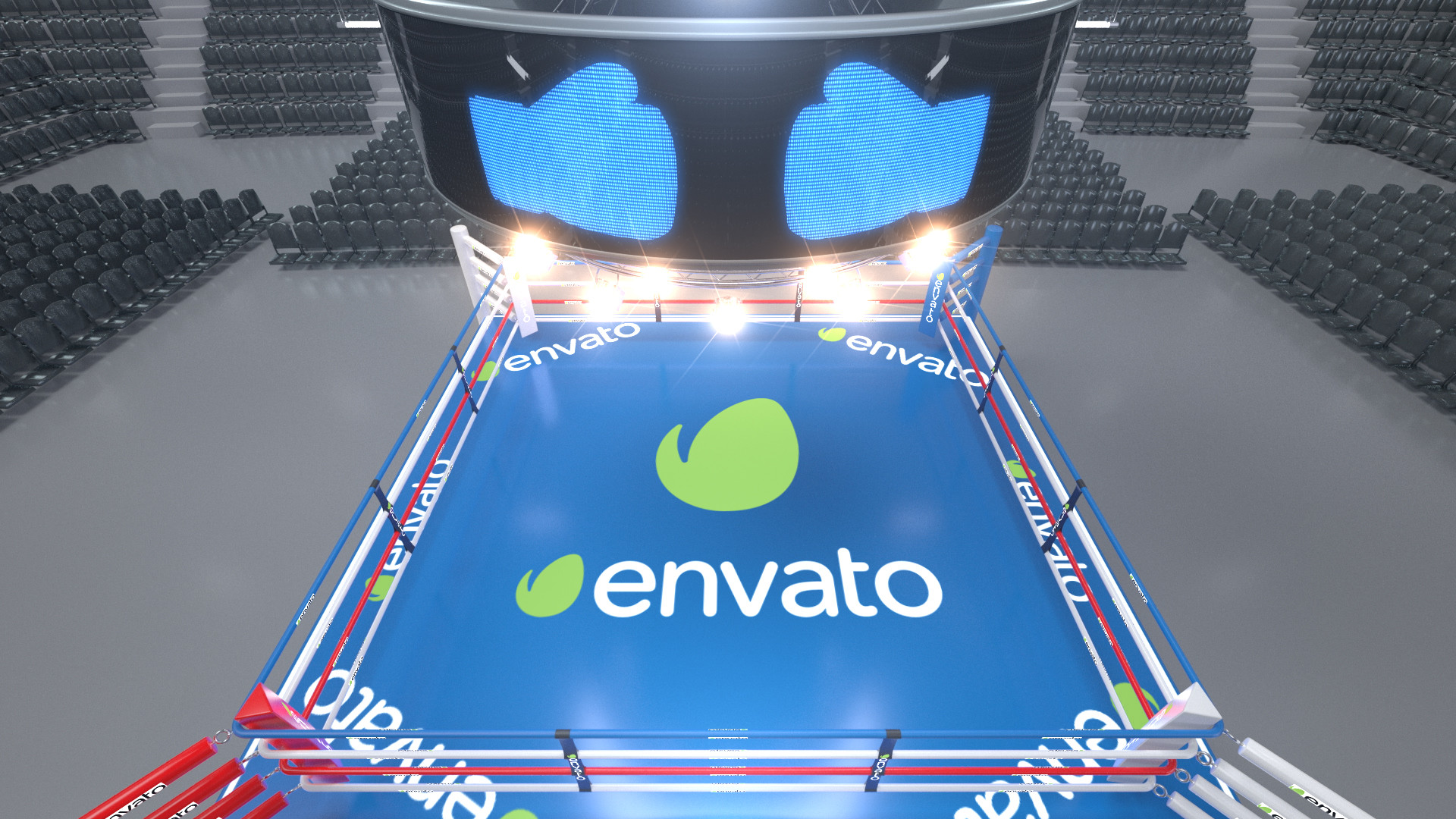 Boxing Ring Arena with Jumbotron - 2