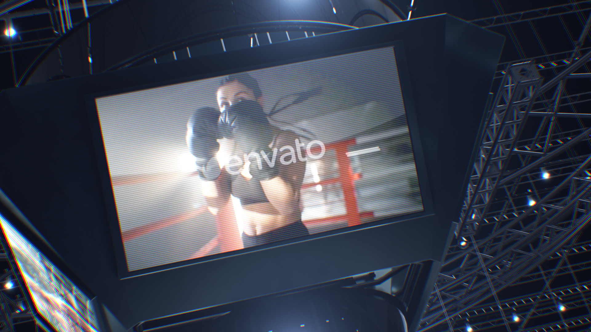 Boxing Ring Arena with Jumbotron - 5