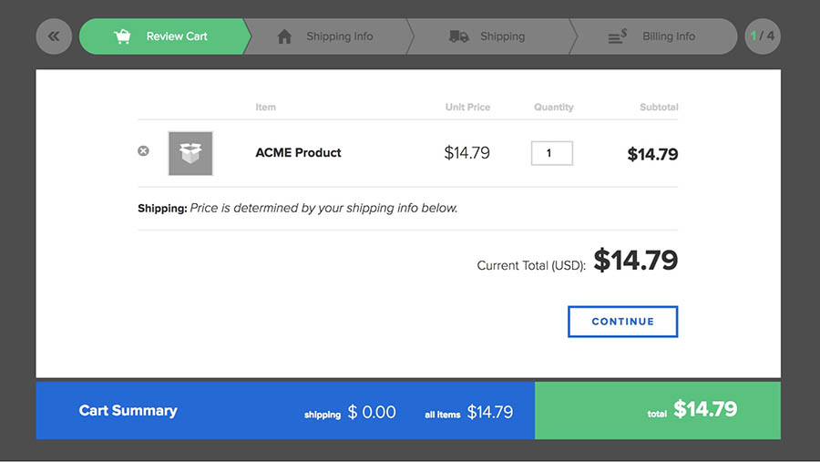 """img """"a checkout demo from 2checkout"""""""