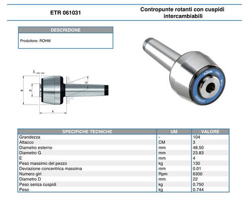 ETR 61031 dati