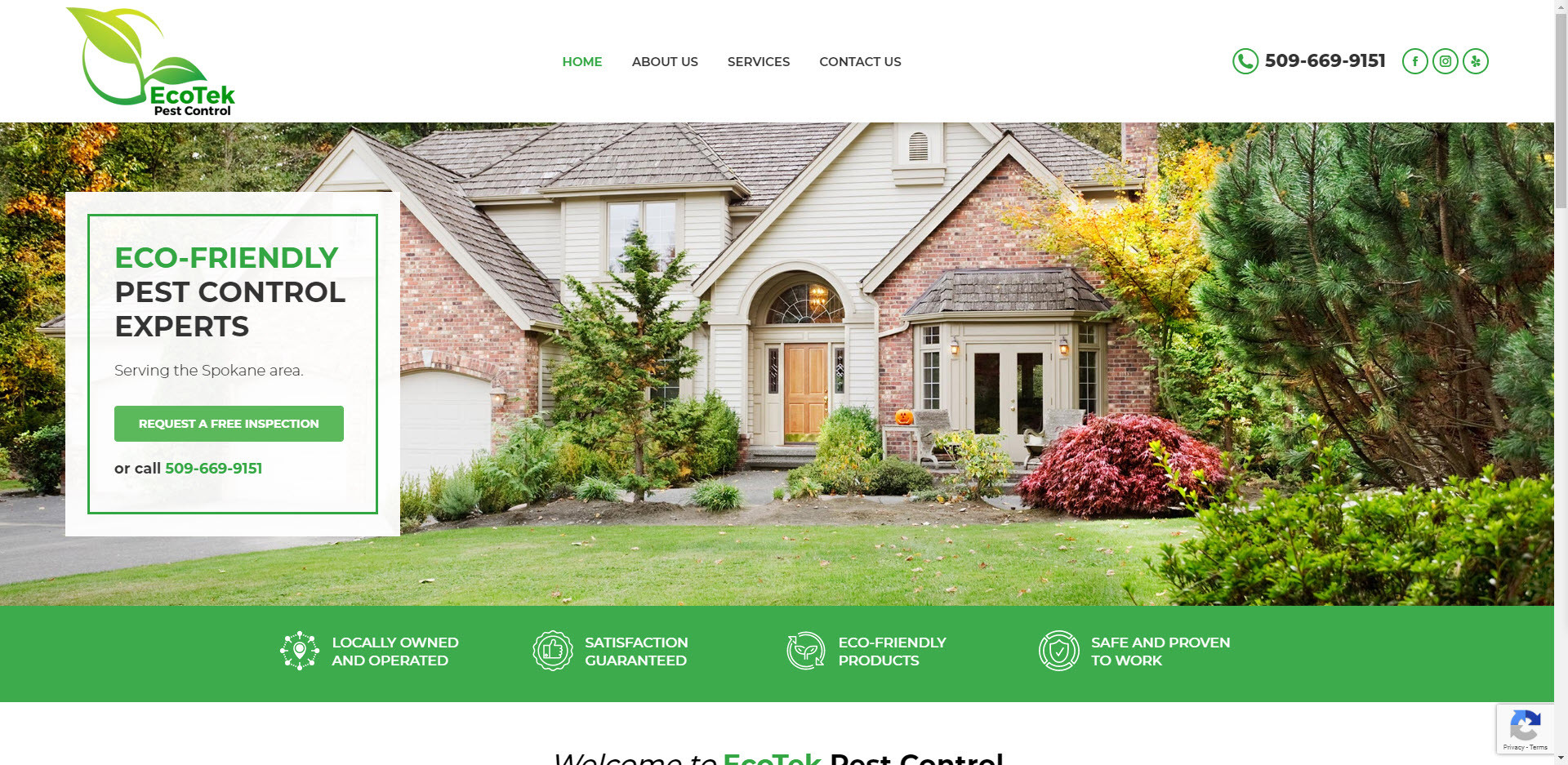 EcoTek Pest Control Website