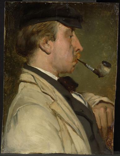 Maris, Matthijs Портрет Ludwig Casimir Sierig (1834 1919), художник, 1856, 26,2 cm x 19,7 cm, Бумага