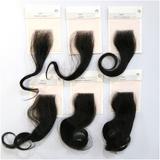 Differentiate four similar men's hair pieces