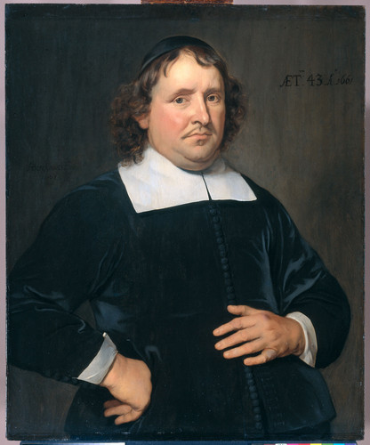 Berckman, Hendrick Thomas Pots (1618 89). Пастор из Флиссингена, 1661, 83,5 cm x 69,5 cm, Дерево, ма