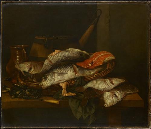 Beyeren, Abraham Hendricksz van Натюрморт с рыбами, 1670, 74 cm x 87 cm, Холст, масло