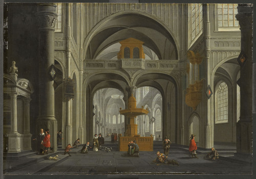 Blieck, Daniel de Интерьер церкви, 1652, 44 cm х 64 cm, Дерево, масло