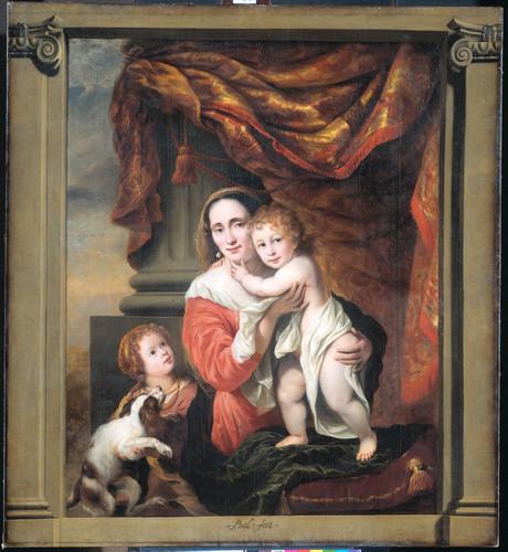 Bol, Ferdinand Joanna de Geer (1629 91) со своими детьми Cecilia Trip (1660 1728) и Laurens Trip (ро