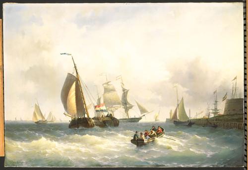 Gruyter, Willem Jr. На рейде у Бремерхафена, 1868, 91 cm х 135 cm, Холст, масло