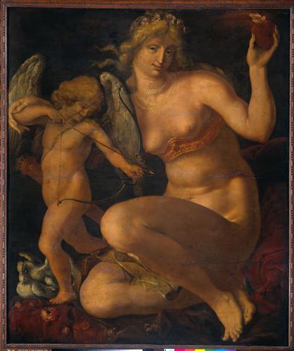 Gheyn, Jacob de II Венера и Амур, 1610, 132 cm x 112 cm, Дерево, масло