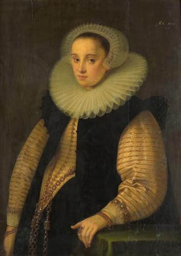 Geldorp, Gortzius Hortensia del Prado, жена Jean Fourmenois, 1596, 96 cm х 71 cm, Дерево, масло