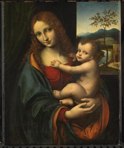 Gianpietrino (приписывается) Мария с младенцем, 1525, 67 cm х 54 cm, Дерево, масло