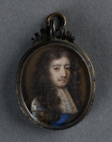 Gibson, Richard (приписывается) Willem III (1650 1702), принц Оранский, 1680, 2,4 cm x 2 cm, Миниатю