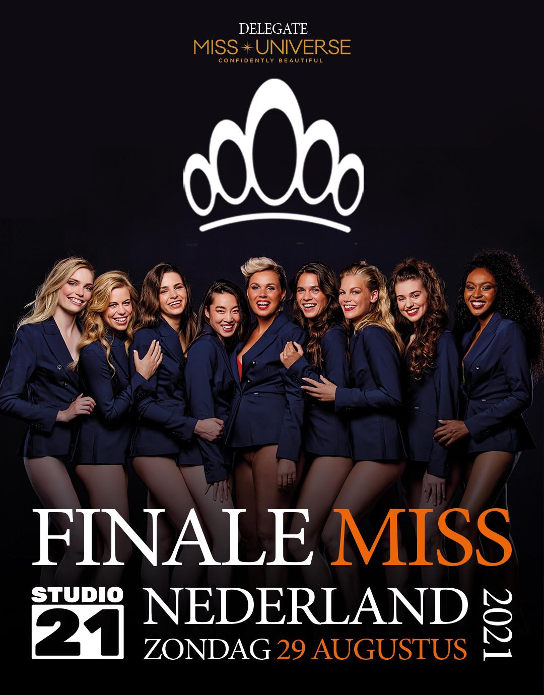 candidatas a miss universe netherlands 2021. final: 29 de agosto. REB71V