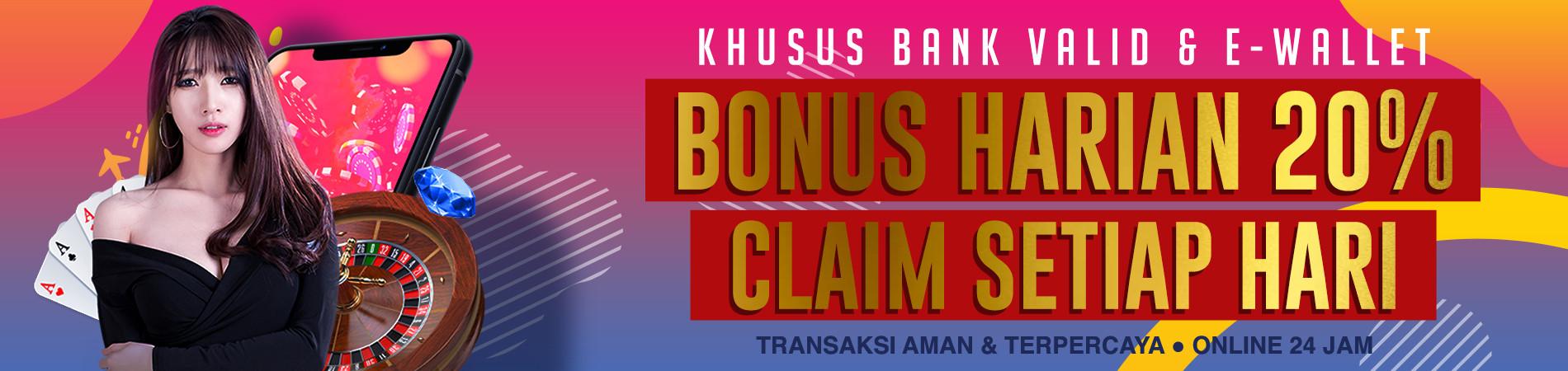 Topup bonus 20% / hari