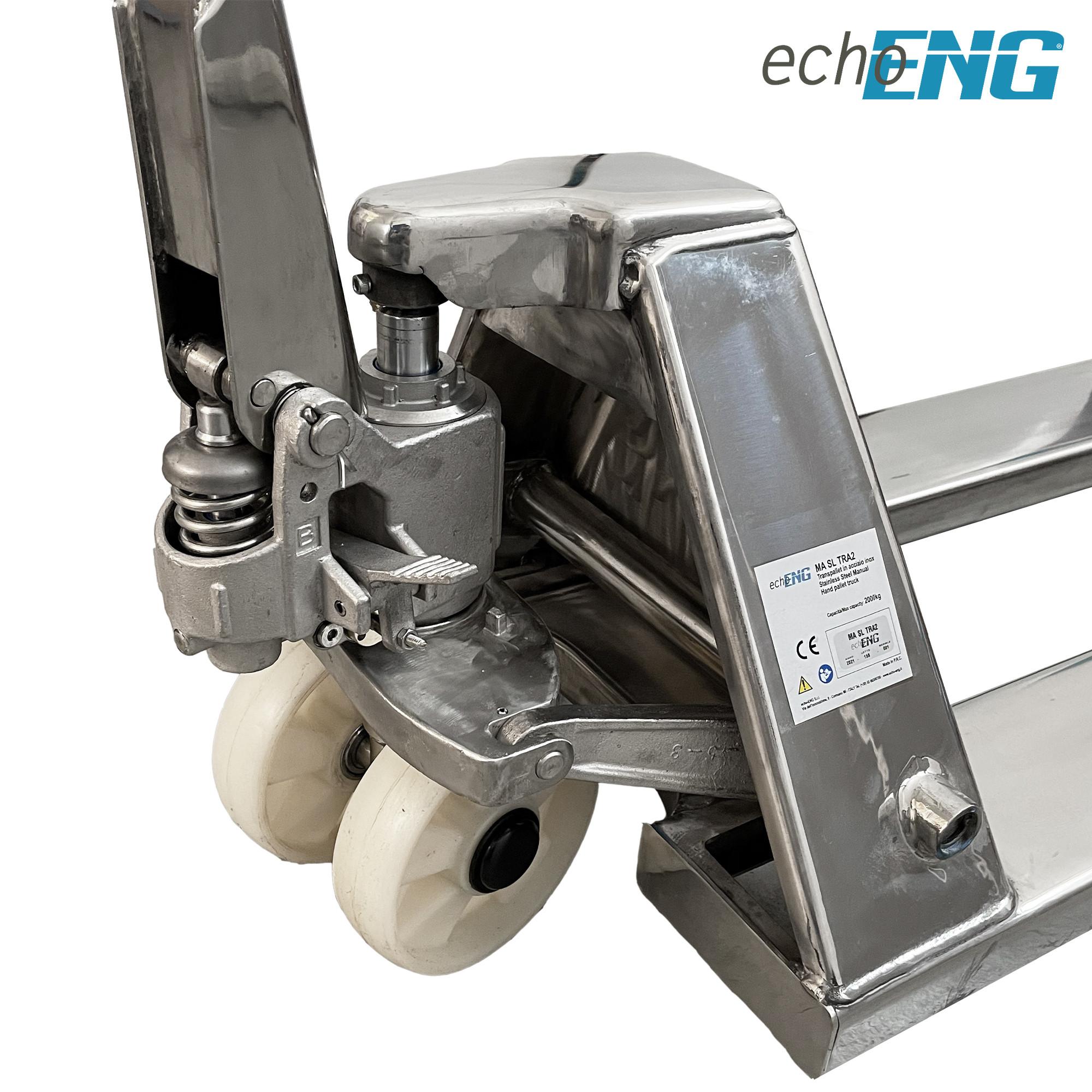 Transpallet sollevatore professionale 2000 Kg acciaio inox AISI 304 - MA SL TRA2