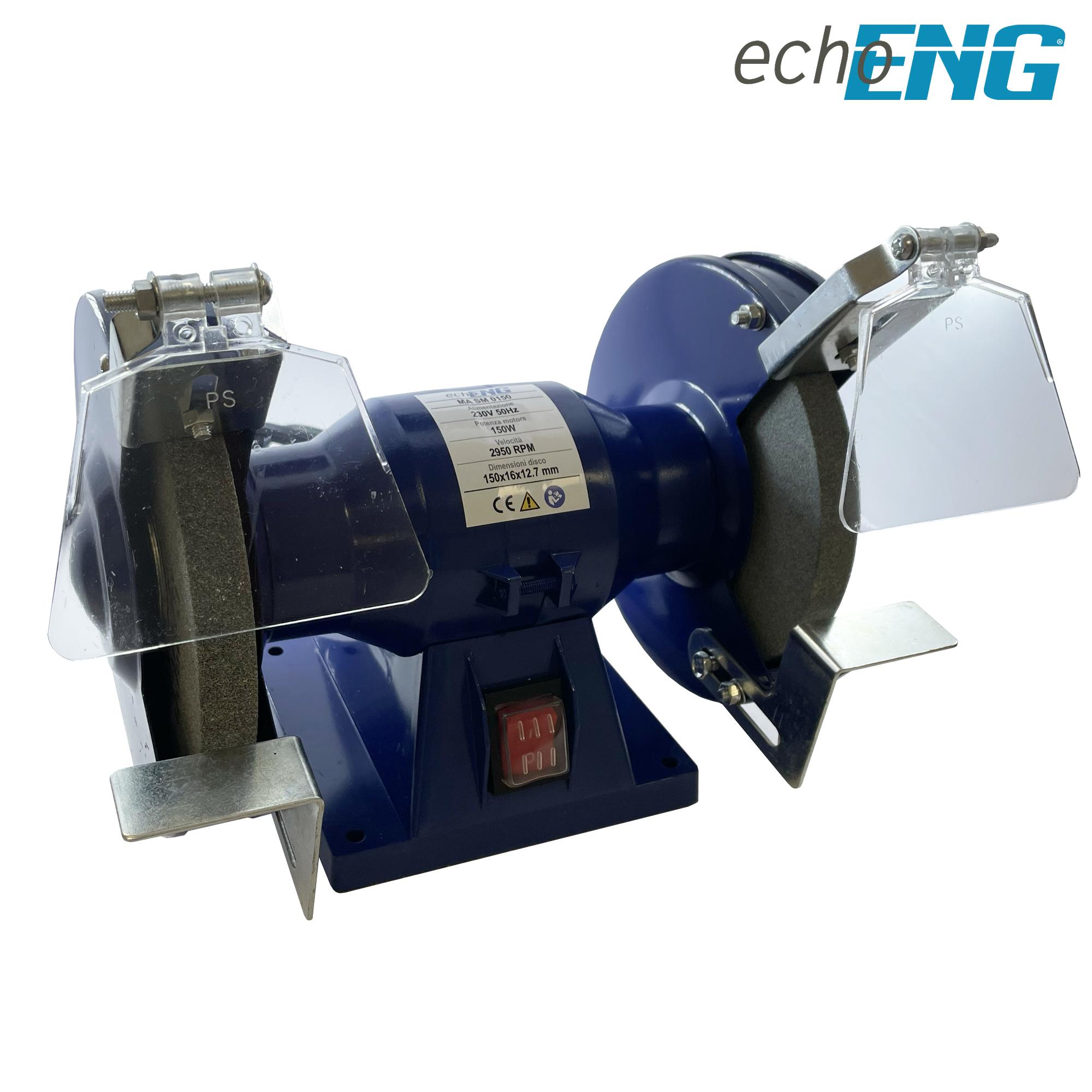 Doppia mola smerigliatrice da banco professionale 200mm 1000W - MA SM 0200