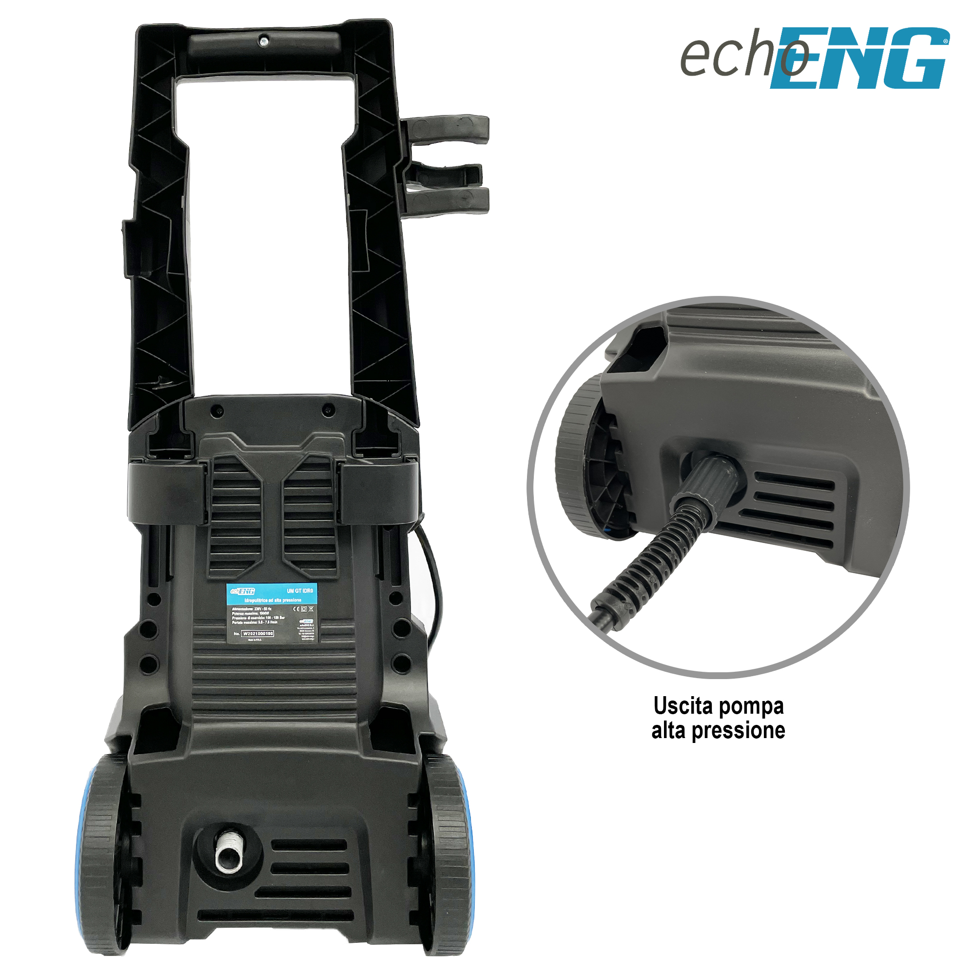 Idropulitrice ad Alta Pressione 1900W 100-150bar - echoENG - UM GT IDR0