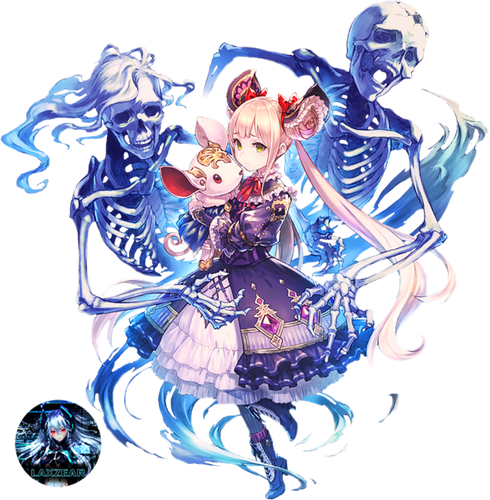 anime girl with skeletons render by laxzear daune88.png