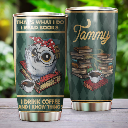 Cute Owl Book Coffee Personalized KD2 BGX1311004 Stainless Steel Tumbler Tammy.png