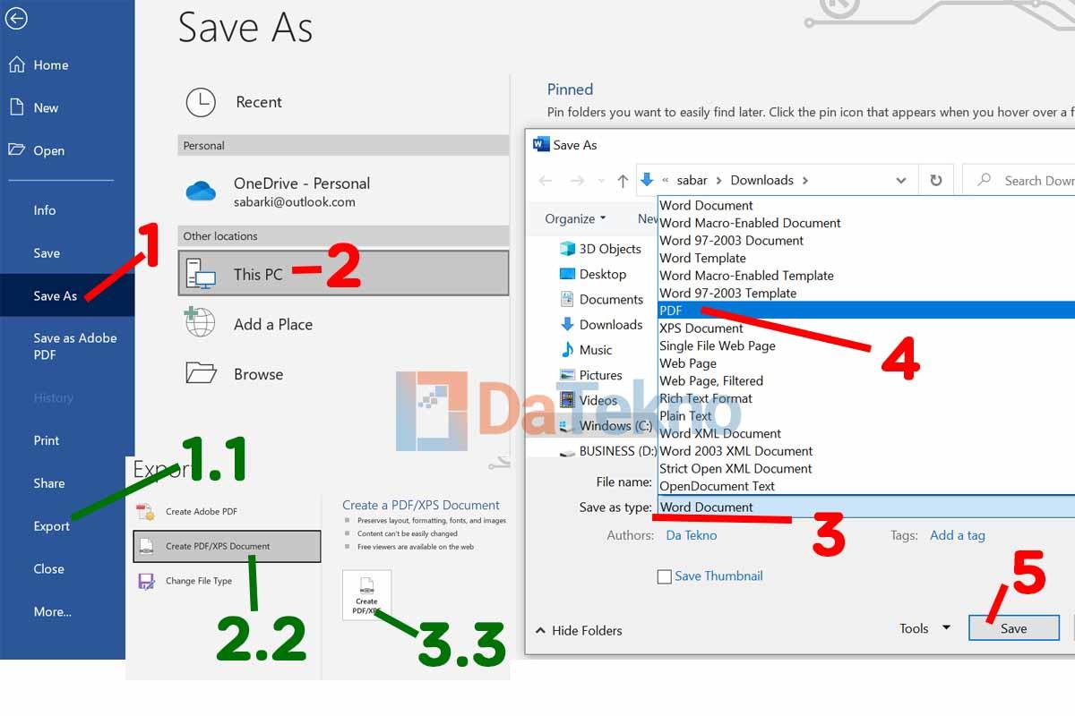 Cara mengedit file pdf ke Word tanpa aplikasi