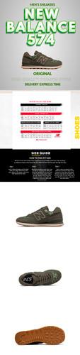 Sneakers template 4 Pics New balance New Design Description