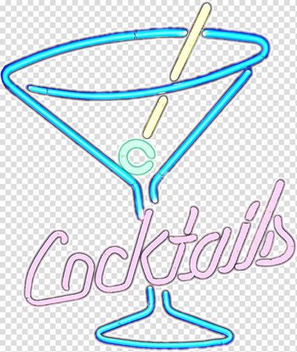 cocktail martini light neon sign neon
