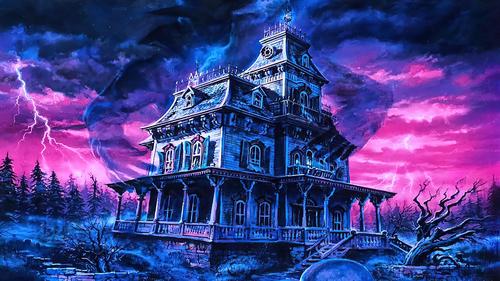 Phantom Manor Frontierland by Dan Goozee (dark scene).png