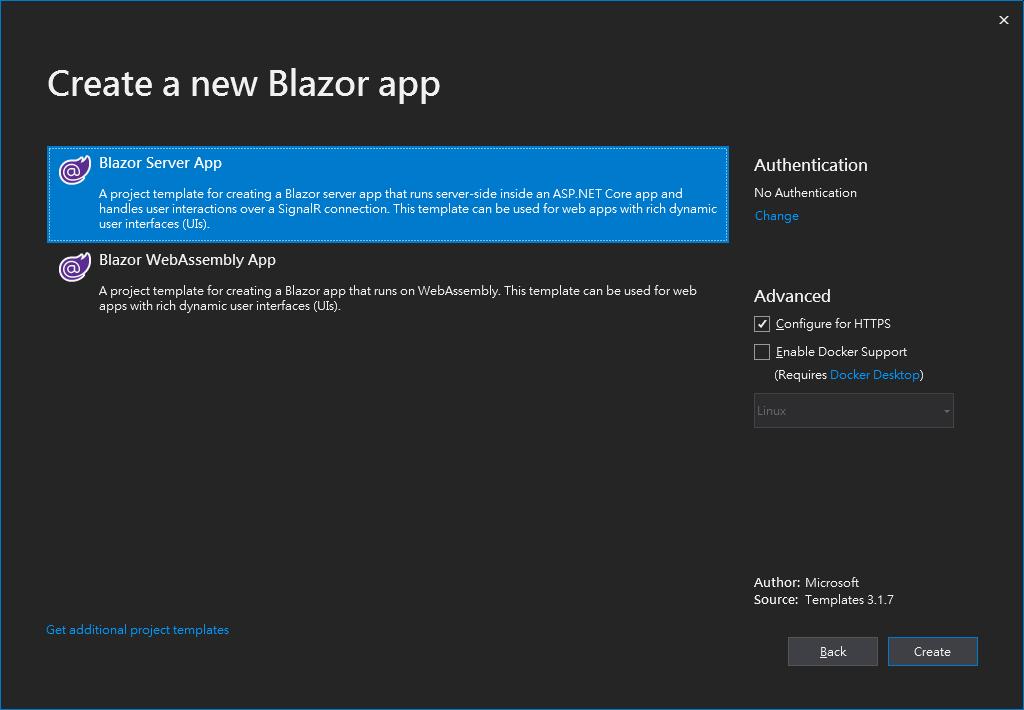 "img ""Blazor Server App"""