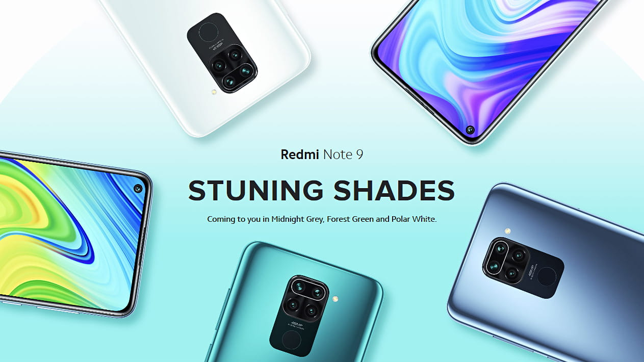 Redmi Note 9 Stunning shades