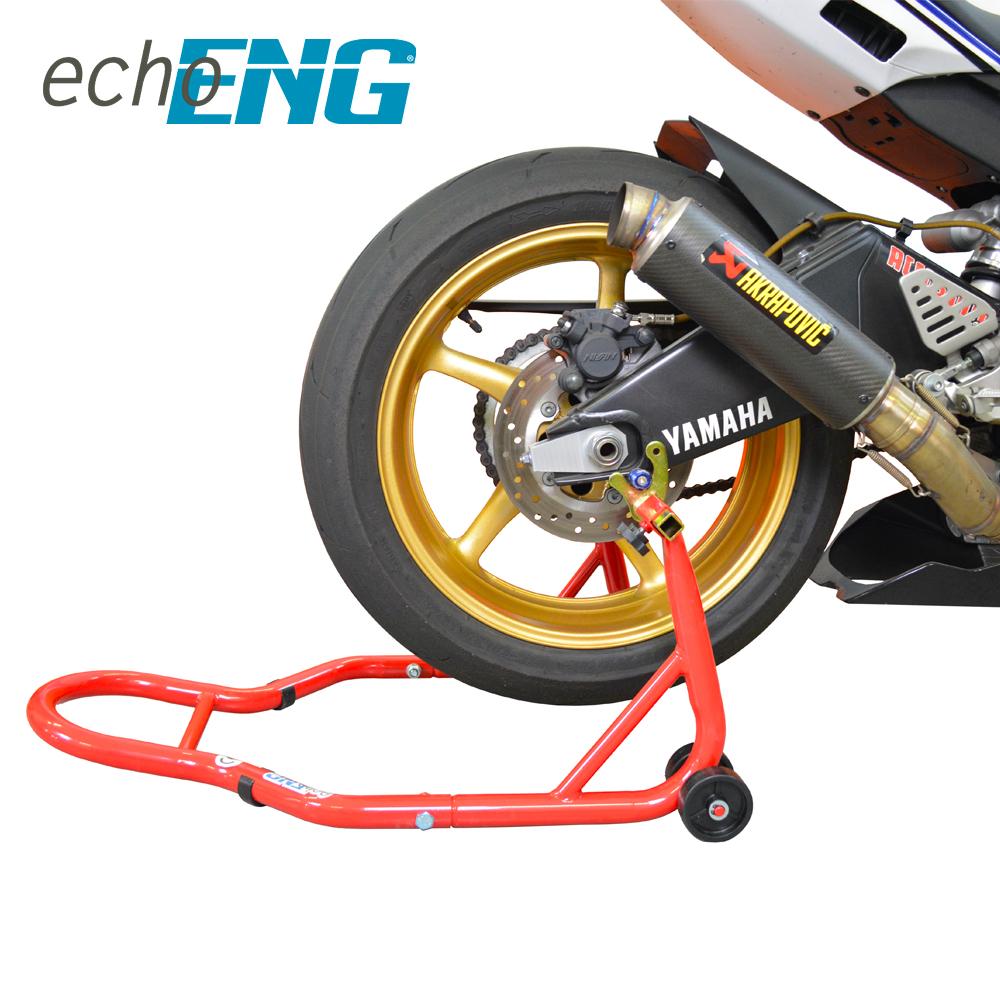 Cavalletto moto alzamoto ruota posteriore moto con nottolini fino 200kg