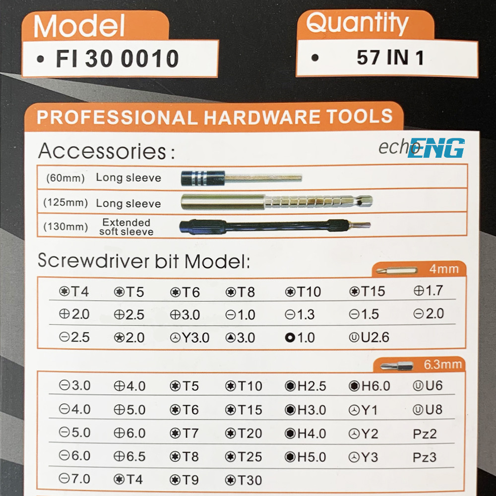 Kit set cacciavite giravite 52 inserti CR-V multiuso porta utensili portainserti