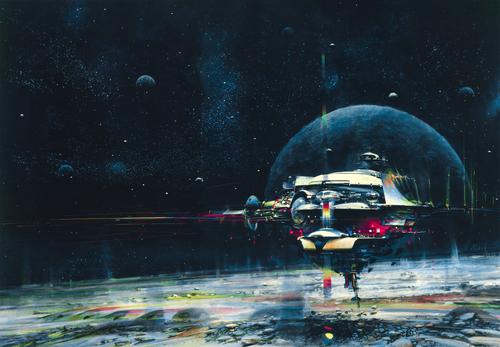 'Space Mail' by John Berkey (Alt Blue)
