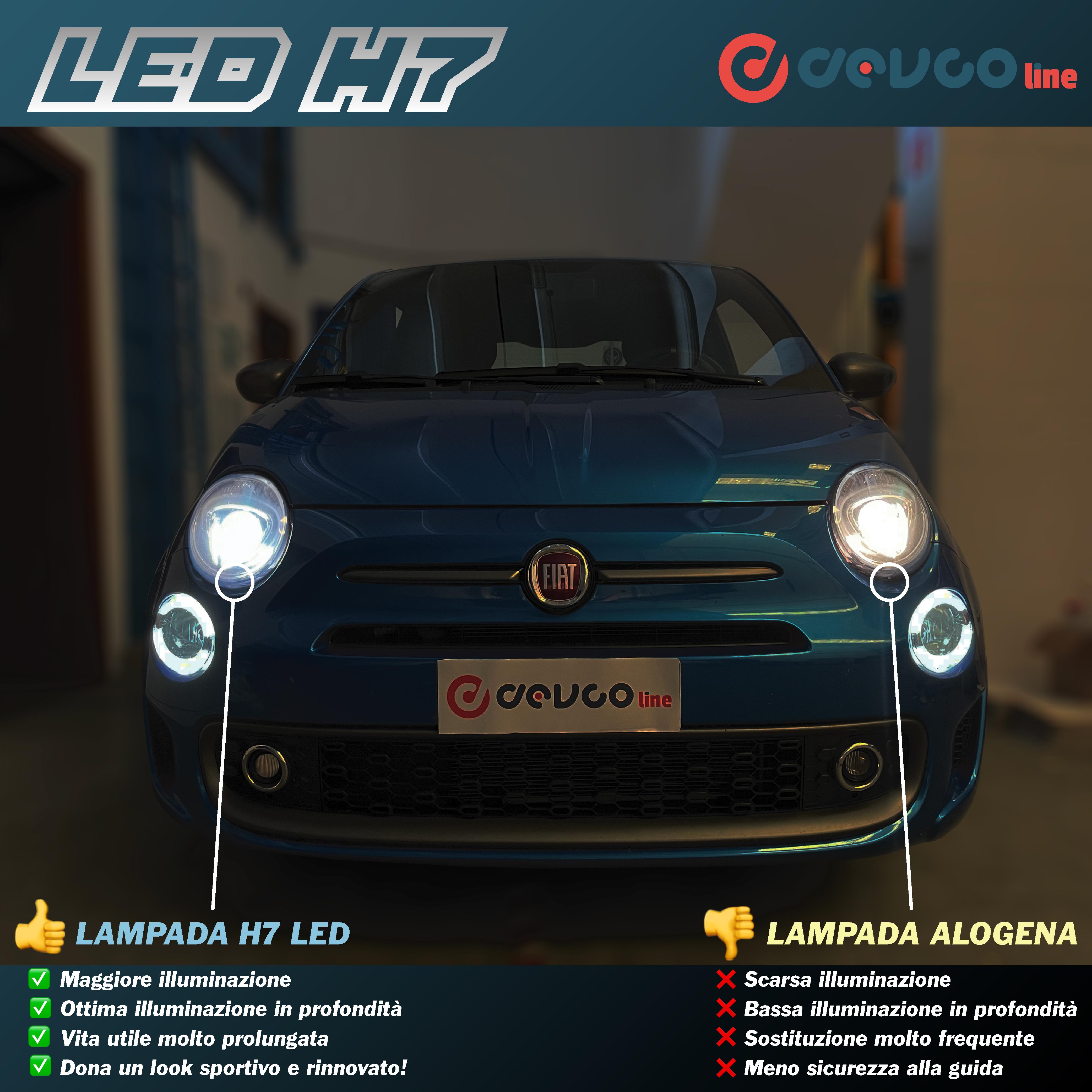 Coppia di lampadine LED H7 con mini centralina - DEVCOline - AR FL 00H7