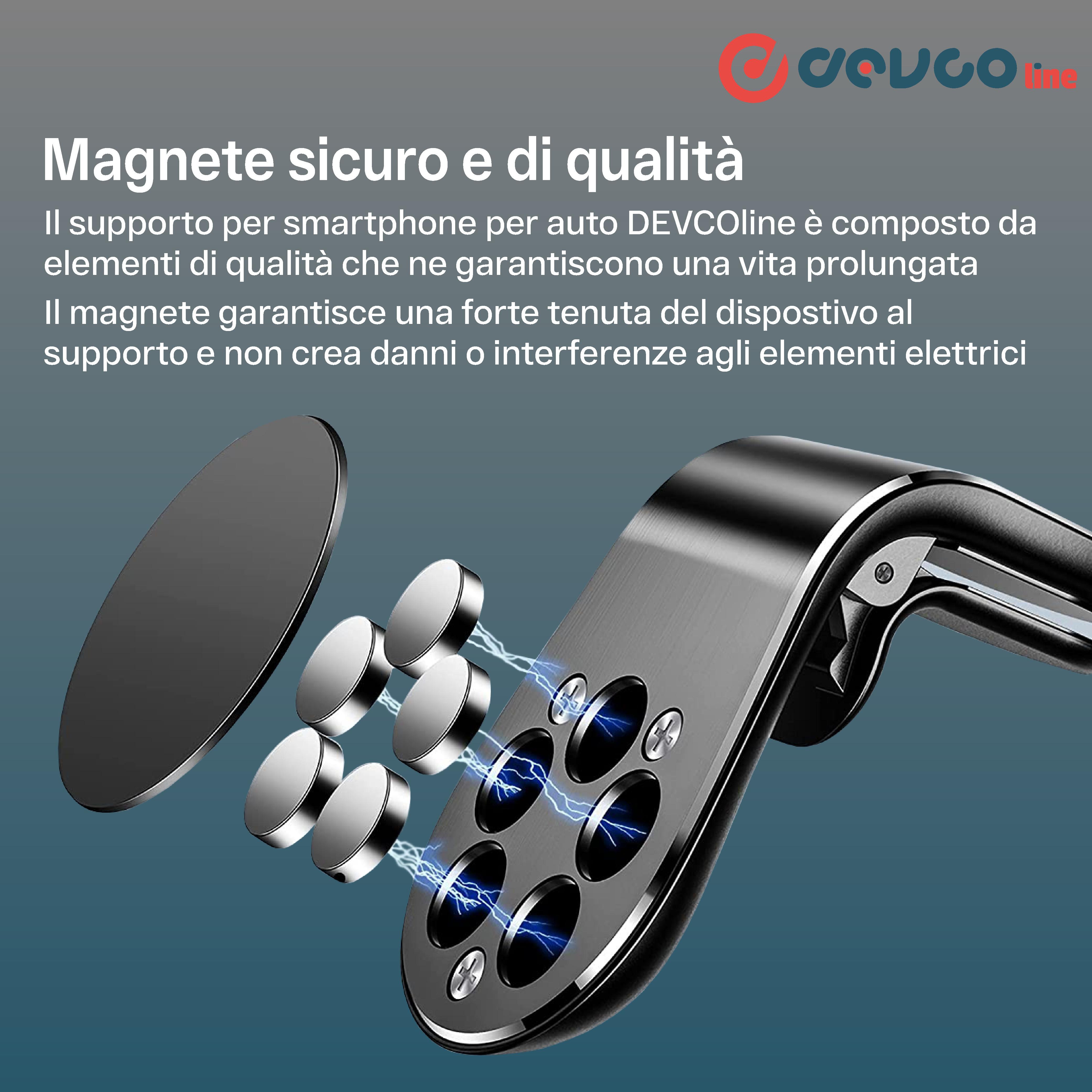 Supporto magnetico per smartphone per auto supporto telefono magnete incluso