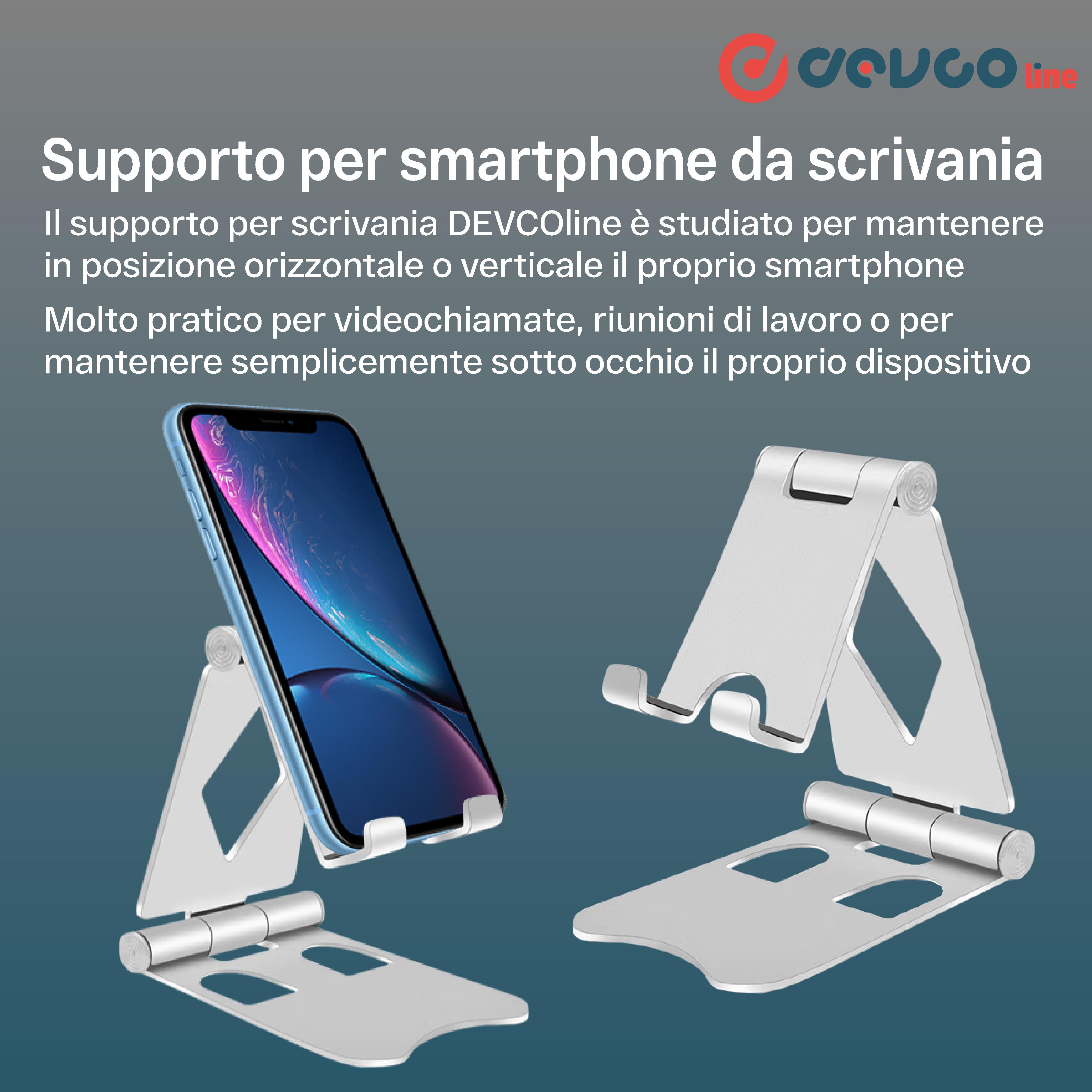 Supporto pieghevole per smartphone supporto telefono universale da scrivania