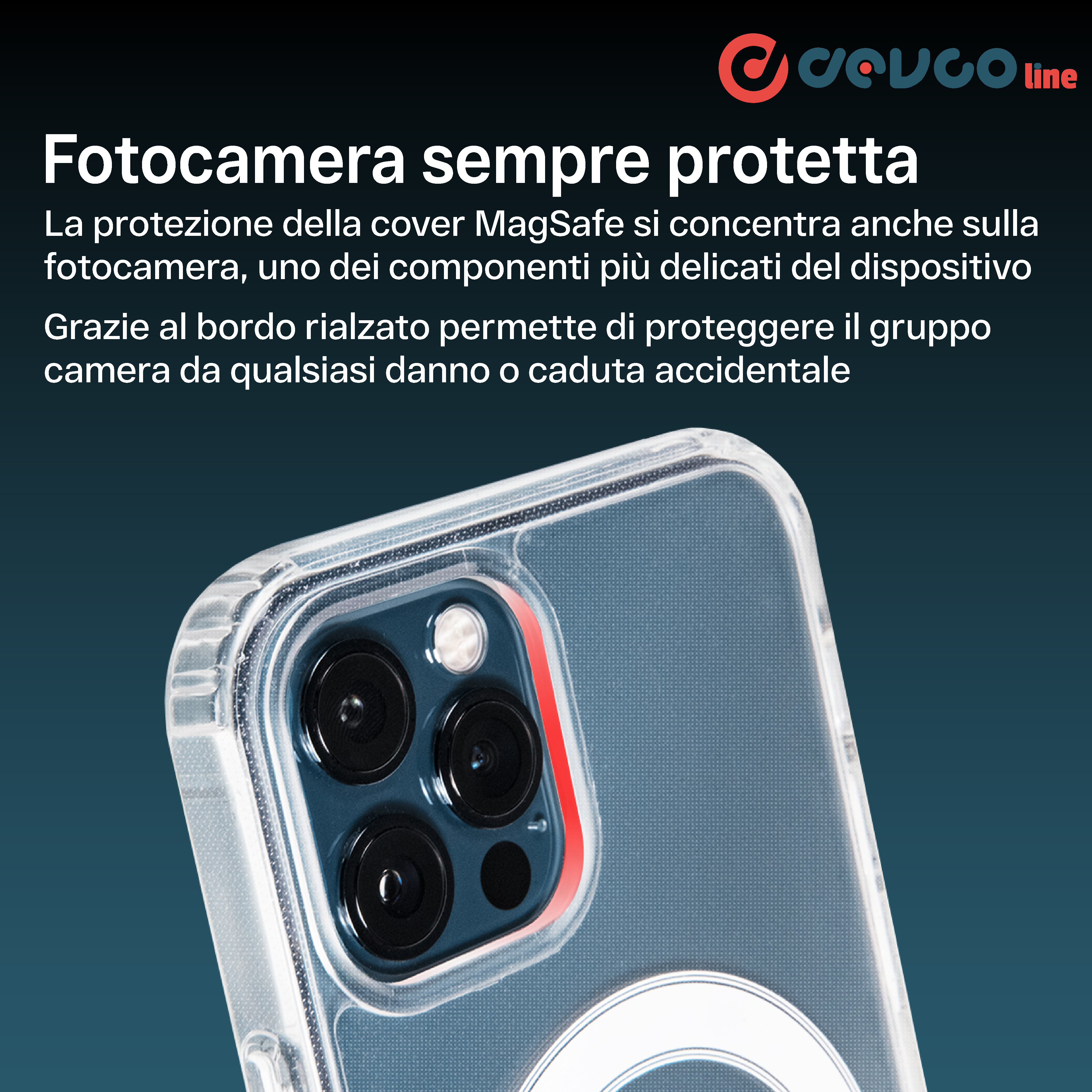 Cover MagSafe Custodia Trasparente per iPhone 12