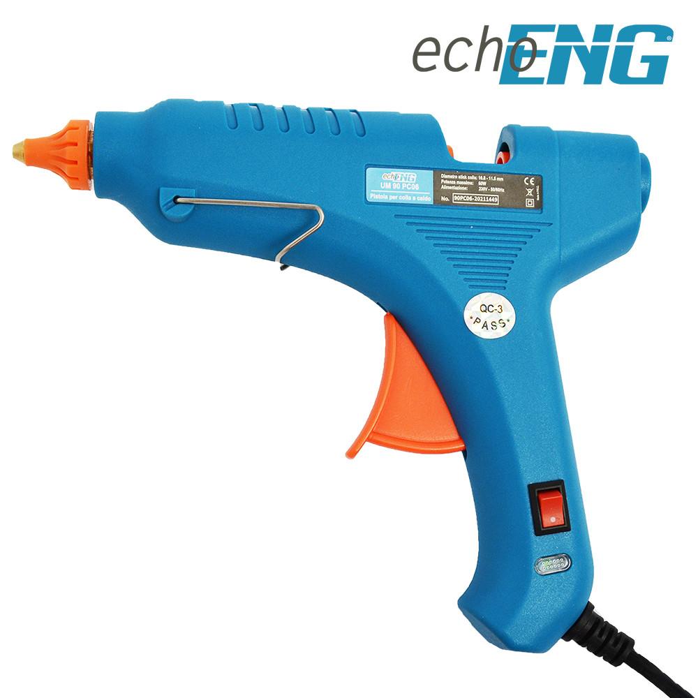 Pistola colla a caldo 60W + 2 stick di colla - echoENG - UM 90 PC06