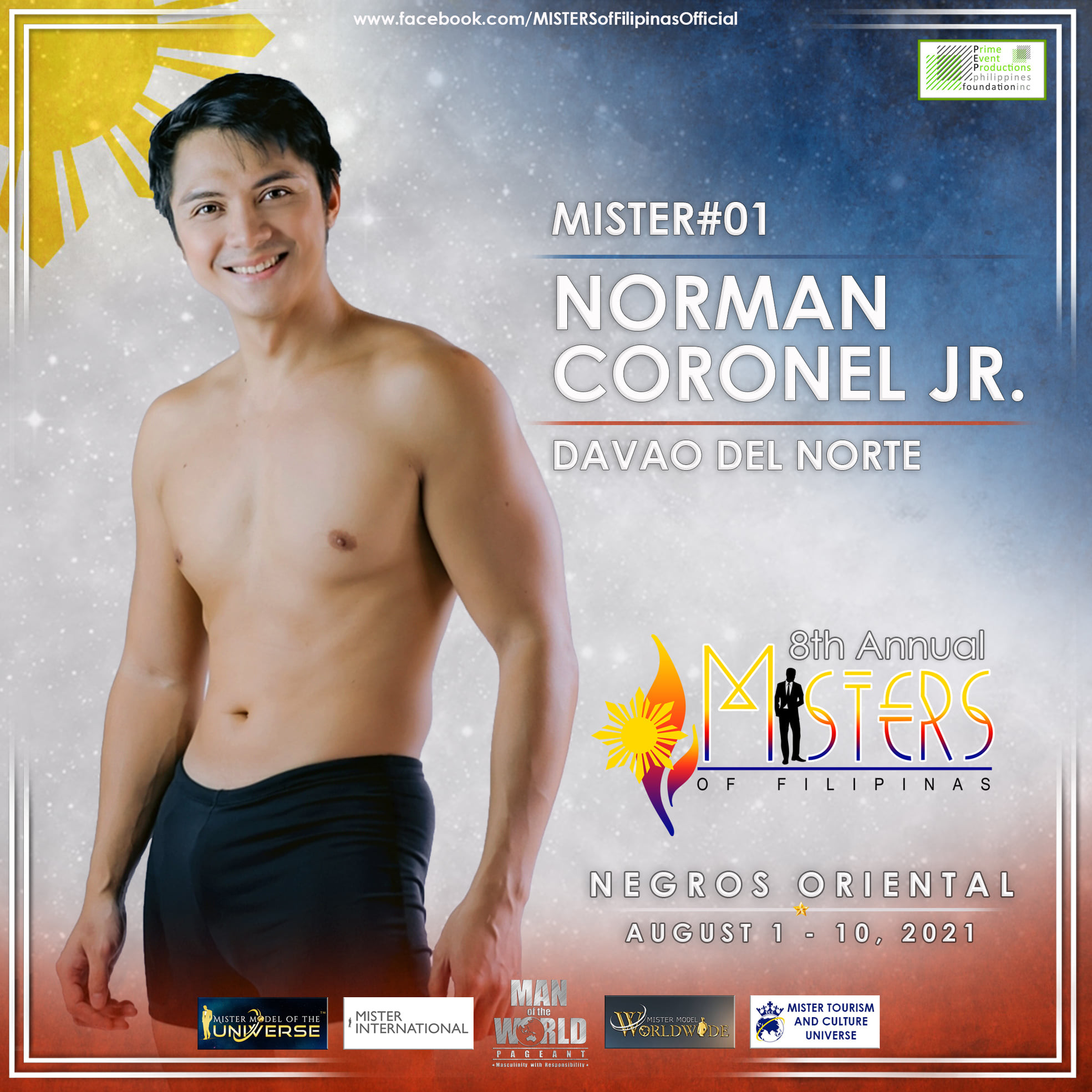 candidatos a misters of filipinas 2021. final: 27 agosto. OwKoKP